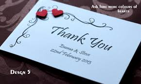 thank you card wedding wording sample of handmade personalised wedding thank you cards