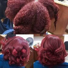 Coloring Natural African American Hair Deep Red Silk Press Via Rachel Redd Http Blackhair Cc 29tw6w7