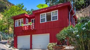 big red 691 sq ft small home in burbank ca tiny house design