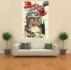 amazon com mononoke totoro anime manga giant wall art print