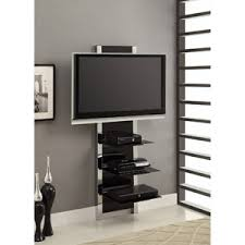 Wall Mount Tv Stand With Shelves by Altramount Black And Chrome Wall Mount Tv Stand For Tvs Up To 60