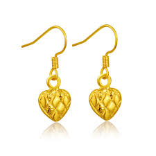 heart shaped earrings 2018 alluvial gold heart shaped earrings shall boutique jewelry