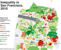 san francisco map a map of which sf neighborhoods became richer since 1990 curbed sf