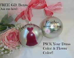 painted bridesmaid ornaments bridesmaid gifts will you