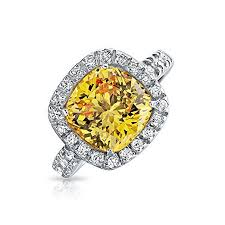 verlobungsring k ln bling jewelry canary gelb cz kissenschliff 925 sterling 3ct