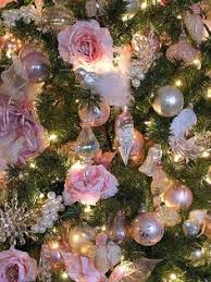 beautiful shabby tree decorated with pink