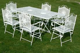 Wrought Iron Patio Chair Patio Ideas Used White Wrought Iron Patio Furniture Cast Iron