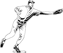 baseball pitcher coloring pages getcoloringpages com