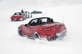 lexus awd in snow driving the mazda cx 3 cx 5 and mx 5 miata on snow and ice