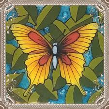 cbpm125s 6 stained glass butterfly designer silk screen