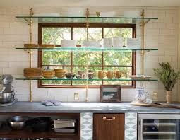 glass shelf between kitchen cabinets options for a kitchen design with no window the sink
