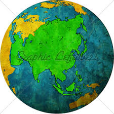 asia globe map asia on globe map gl stock images