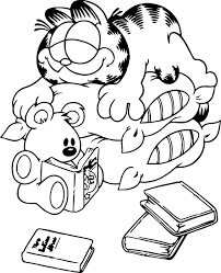 garfield coloring pages coloring garfield pictures of garfield