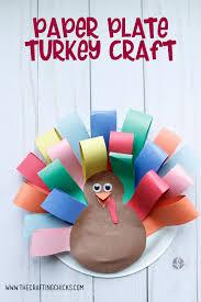 turkey plate craft paper plate turkey craft the crafting