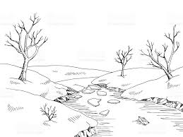 river black and white clipart collection