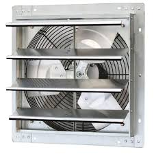 shutter exhaust fan 24 iliving 1280 cfm power 16 in variable speed shutter exhaust fan