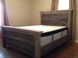 Log Queen Bed Frame Bed Frames Solid Wood Platform Bed Barnwood Beds Queen Size Log