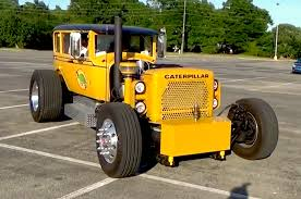 video caterpillar buggy is a c12 powered rod with studebaker