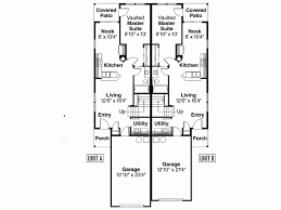 One Level Living Floor Plans Eplans Craftsman House Plan One Story Duplex With Vaulted Master