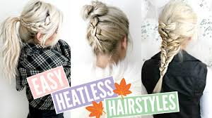 heatless hair styles 3 quick easy heatless hairstyles for fall