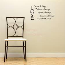wall art writing stickers you believe yourself everything vinyl wall decals love bears all things believes hopes endures