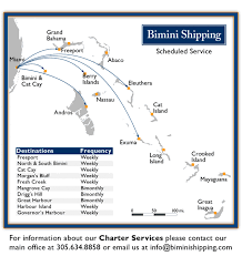 cargo shipping to the bahamas and the caribbean bimini shipping