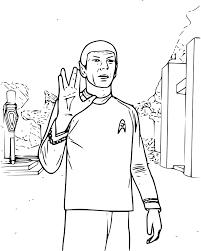 Coloriage Spok Star Trek à imprimer