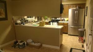 kitchen peninsula cabinets listy mclisterson our kitchen remodeling timeline scott and