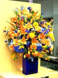 flower arrangements with lights blue floral arrangements hagiworks info