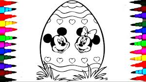 giant easter egg coloring pages disney junior mickey mouse