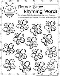 kindergarten math and literacy printables february rhyming