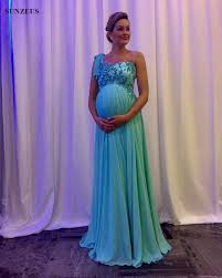 maternity evening wear maternity party dresses empire one shoulder evening