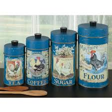 country home decor rooster tin canisters for storage sturbridge country rooster tin canister set