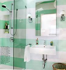 green white wall ceramic bathroom tile mirror without frame wall