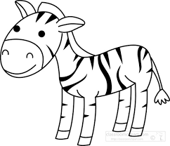 easy outlines of animals zebra outline clipart clipartxtras