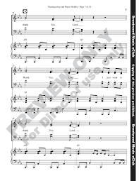 thanksgiving and praise medley satb by ru j w pepper sheet