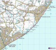 clacton on sea map essex walks clacton on sea to walton on the naze