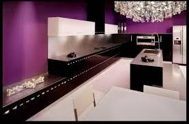 Purple Kitchen Decorating Ideas Kitchen Elegant L Shape Kitchen Design Ideas With Solid Walnut