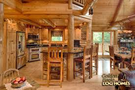 Interior Log Home Pictures by Log Home By Golden Eagle Log Homes Kitchen Snack Bar For