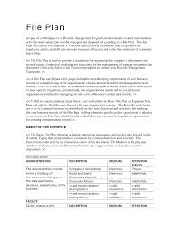 records management expanded file plan template proposal template