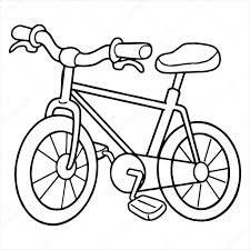 tricycle cartoon bicycle cartoon illustration isolated on white u2014 stock vector