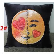taie d oreiller pour canapé acheter 7 styles emoji sequins taie d oreiller changement visage