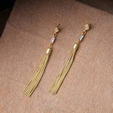 trendy gold earrings wholesale trendy gold tone fringe statement dangle