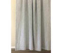 Striped Linen Curtains Navy And White Striped Shower Curtain Handcrafted By