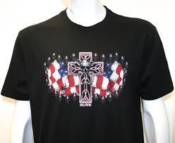 Black Flag With White Cross Icjuk Usa Flag Cross U0026 Skull Unisex Black V Or Crew Neck As Worn