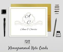 monogram stationery free monogrammed stationery personalize online print at home
