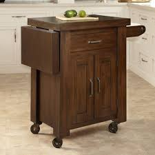 chic drop leaf portable kitchen island with decorative cabinet