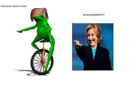 Meme Dat - here comes dat boi trump politics political memes