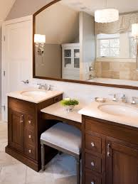 dual vanity with makeup counter houzz for bathroom vanities with
