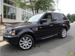 santorini black 2009 land rover range rover sport supercharged